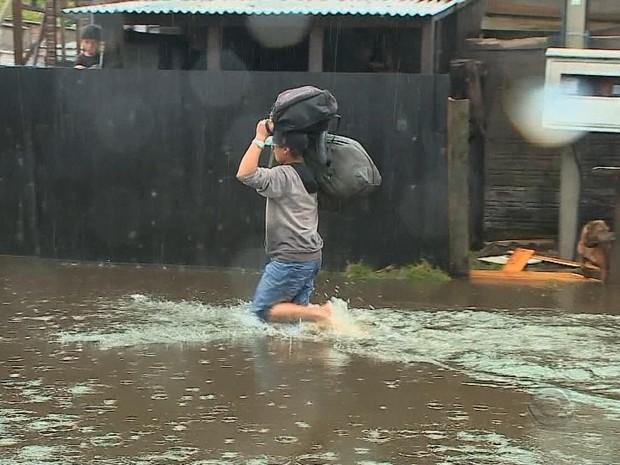 enchente, rio grande, rs (Foto: Reprodução/RBS TV)