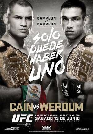 pôster UFC 188 Cain Velásquez Fabricio Werdum (Foto: Divulgação/UFC)