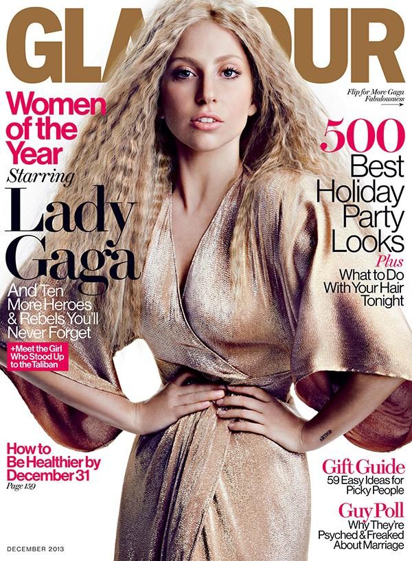 Lady Gaga na capa da Glamour em 2013 (Foto: Divulgação)