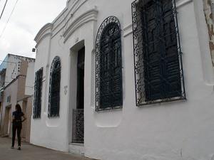 Fachada da casa de dona Canô. (Foto: Egi Santana/G1)