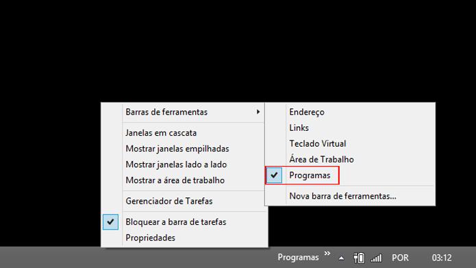 Recurso pode ser removido a partir da barra de tarefas (Foto: Reprodução/Windows)