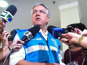 Alexandre Padilha, ministro da Saúde, em Santa Maria (Foto: Tatiana Lopes/G1)