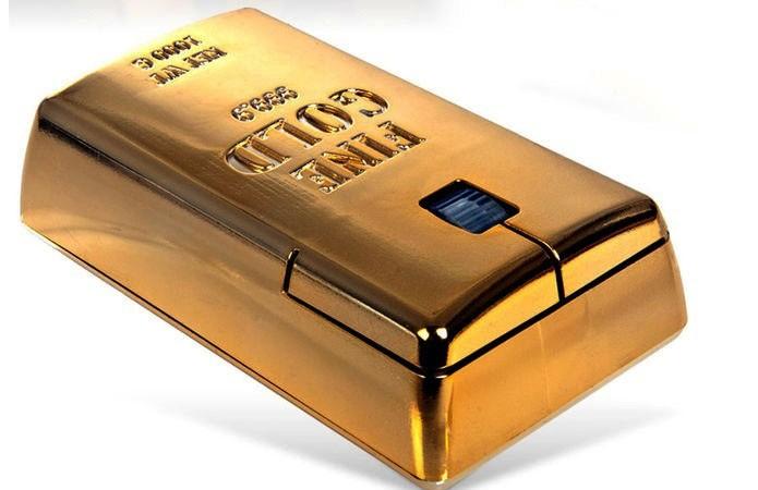 Mouse com corpo de 10 cm feito inteiramente de ouro é o mais caro do mundo (Foto: Divulgação)