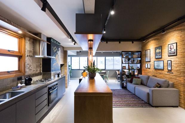 Apartamento de 45 m² reflete o estilo urbano do jovem morador (Foto: ©Marcelo Donadussi)