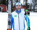 Com barba congelada, Ribela bate recorde brasileiro no cross-country
