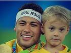 Neymar parabeniza o filho, Davi Lucca, pelo aniversário de 5 anos