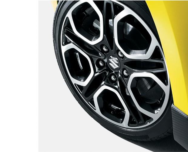 Swift Sport terá rodas esportivas com pneus de alta aderência (Foto: Divulgação)