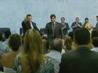 Prefeito reeleito e vereadores tomam posse na Câmara em Pouso Alegre