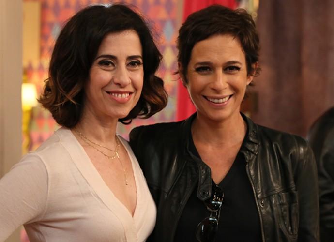 Andréa Beltrão e Fernanda Torres: amigas na vida real (Foto: TV Globo)