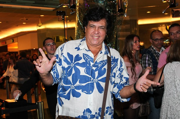 Sidney Magal na estreia do musical 'Priscilla, Rainha do Deserto' (Foto: Manuela Scarpa / Photo Rio News)