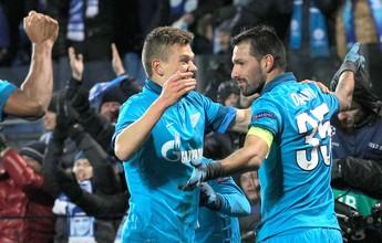 Com assistência de Hulk, Zenit vence e elimina o Benfica da Champions