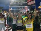 Manifestantes protestam contra Dilma e Lula pelo 2º dia seguido em Manaus