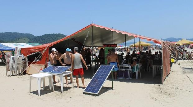 eMove em Santos, onde lançaram o protótipo de gerador de energia solar (Foto: Divulgação)