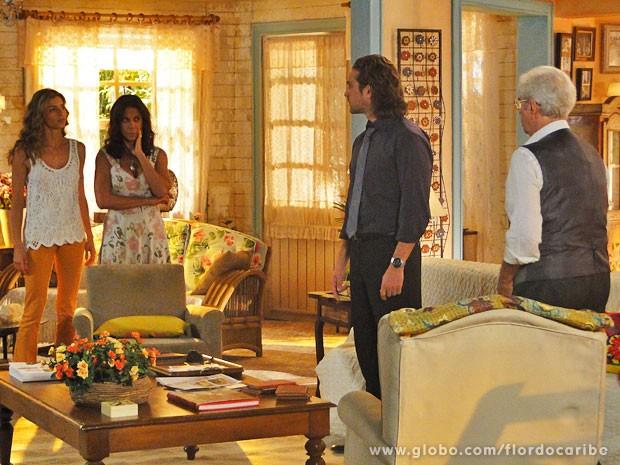 Ester avisa que separação é para valer (Foto: Flor do Caribe / TV Globo)
