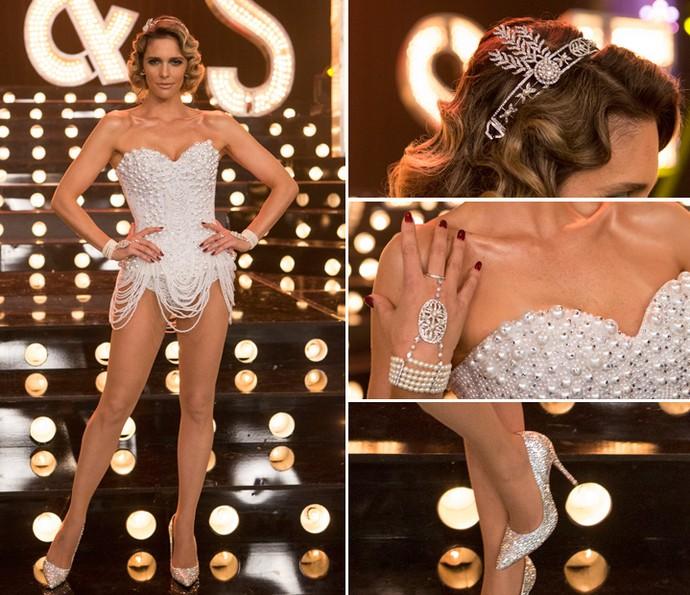 Confira os detalhes do look de pérolas do programa com tema Romance (Foto: Felipe Monteiro/Gshow)