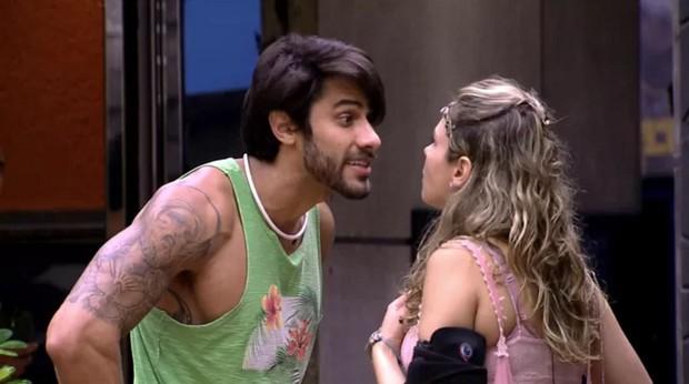 Renan e Ana Paula: rivais declarados no BBB 16 (Foto: Reprodução/Globo)