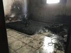 Incêndio atinge quarto de casa no Residencial Universitário