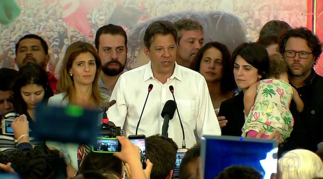 Haddad diz que vai lutar por direitos e não cumprimenta Bolsonaro pela vitória