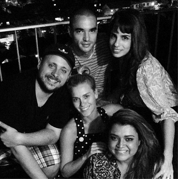 Caio Blat, Maria Ribeiro e Carolina Dieckmann (Foto: Instagram/Reprodução)