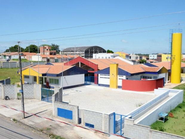 """Centro de Educação Infantil """"Jornalista Ângela Martins Vieira"""" (CEI-95), no Jardim Califórnia (Foto: Emerson Ferraz)"""
