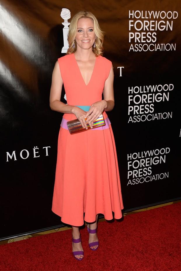 Elizabeth Banks em evento em Los Angeles, nos Estados Unidos (Foto: Frazer Harrison/ Getty Images/ AFP)