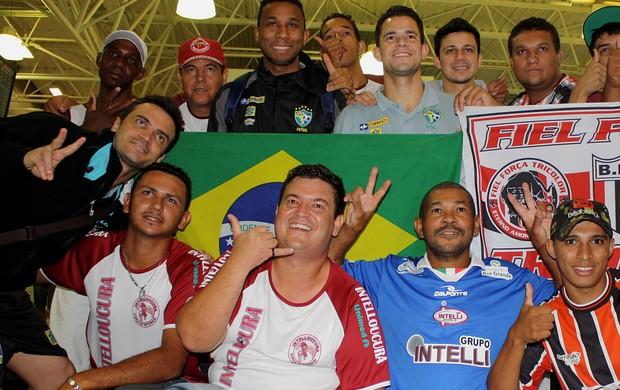 Jogadores do Orlândia são recebidos com festa em Ribeirão Preto (Foto: Cleber Akamine / globoesporte.com)