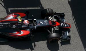 Carro da McLaren durante o GP de Mônaco realizado neste domingo (Foto: Reuters)