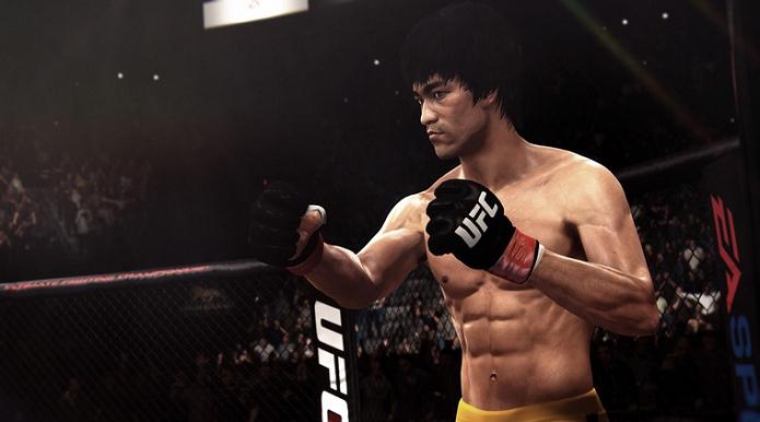 Bruce Lee é novidade no game do UFC (Foto: Divulgação/EA Sports)