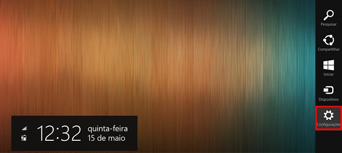 Acesse as configurações gerais a partir do menu lateral (Foto: Reprodução/Paulo Alves)
