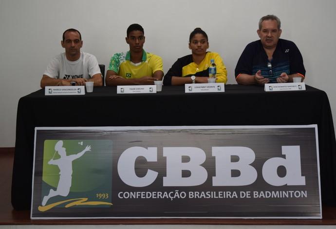 Confederação Brasileira de Badminton divulgou hoje que Ygor e Lohaynny vão disputar os Jogos do Rio (Foto: João Pires/Foto Jump)
