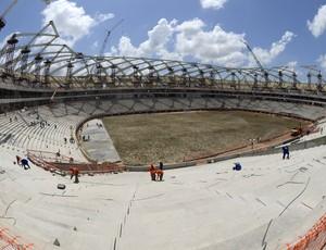 Gramado da Arena da Amazônia (Foto: Alex Pazuelo/AGECOM)