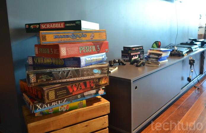 Não é só de games virtuais que vive um Googler; jogos de tabuleiro são populares por aqui (Foto: Melissa Cruz / TechTudo)