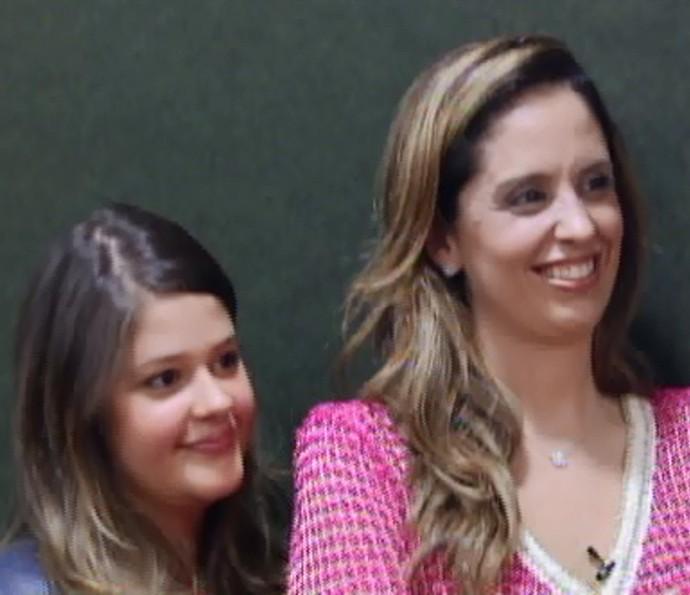 Filha e esposa de Tom Cavalcanti no 'Visitando o Passado' (Foto: TV Globo)