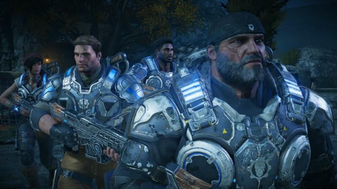 Veja como os gráficos de Gears of War 4 ficaram no Xbox One em comparação à versão PC no Windows 10 (Foto: Reprodução/Hardcore Gamer)
