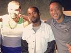 Naldo posa com Will Smith e Kanye West e diz: 'Tome-lhe música'