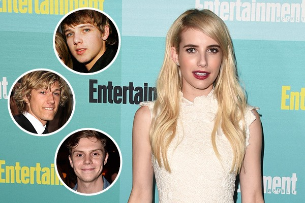 Emma roberts, Max Thieriot, Alex Pettyfer e Evan Peters (Foto: Getty Images)