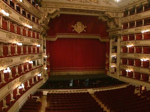 Teatro Alla Scala em Milão (Foto: Reprodução/ EPTV)