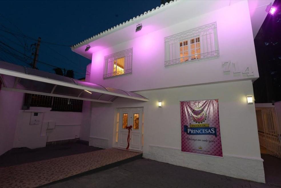Entrada da Escola de Princesas, em Moema, Zona Sul de São Paulo (Foto: Reprodução/Escola de Princesas )