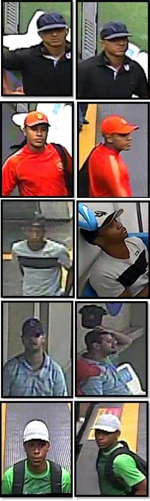 Suspeitos de roubo no metrô tiveram imagens divulgadas (Foto: Divulgação / Disque-Denúncia)