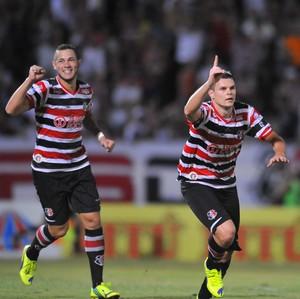 Santa Cruz x Central primeiro gol de Alemão 2 (Foto: Aldo Carneiro/Pernambuco Press)