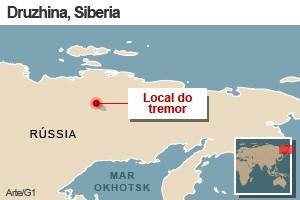 mapa terremoto sibéria 14/2 (Foto: 1)