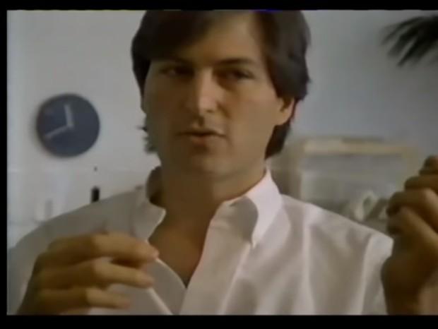 Steve Jobs em vídeo resgatado dos anos 80  (Foto: reprodução)