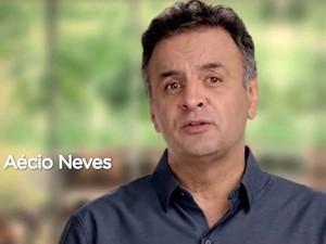Aécio Neves aparece em seu último programa eleitoral