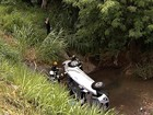 Motorista morre após carro 'voar' e cair em córrego na BR-060, em Goiás