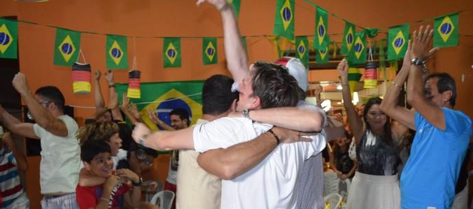 Torcida alemã na Paraíba (Foto: Lucas Barros / GloboEsporte.com/pb)