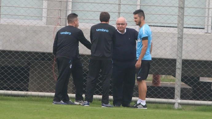 William Schuster presidente Romildo Bolzan Júnior Grêmio (Foto: Eduardo Moura/GloboEsporte.com)