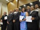 Prefeito e 15 vereadores eleitos em Franca, SP, tomam posse na Câmara