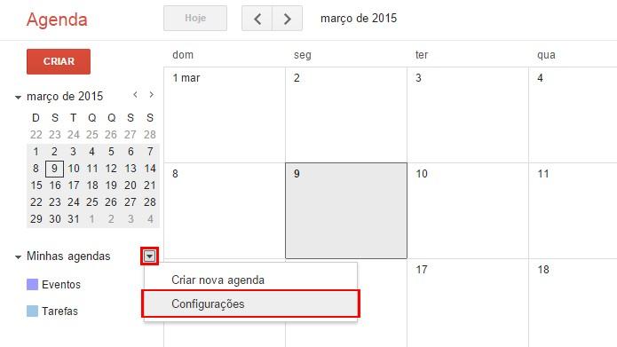 Recurso é usado para controlar a exibição de calendários diferentes (foto: Reprodução/Google)