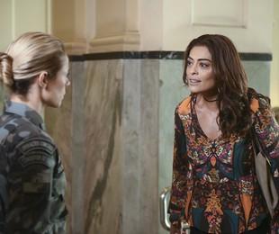 Paolla Oliveira e Juliana Paes em cena como Jeiza e Bibi em 'A força do querer' | Mauricio Fidalgo/ TV Globo
