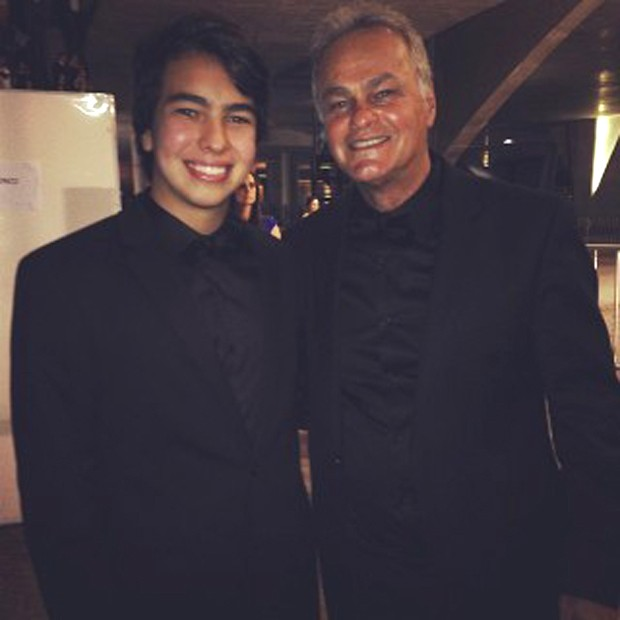 Kenui e o pai, Kadu Moliterno (Foto: Reprodução/Instagram)